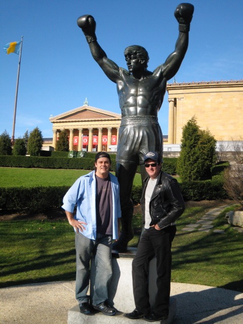 PD and Madsen at Rocky Statue Pic copy